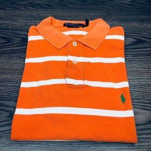 Polo Ralph Lauren Orange & White Stripe Shirt L
